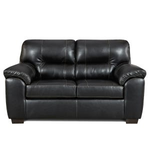 Faux Leather Austin Loveseat Black