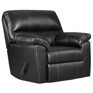 Austin Black Faux Leather Rocker Recliner