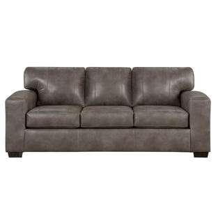 Telluride Latte Faux Leather Sofa