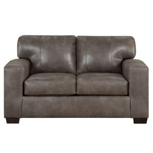 Telluride Latte Faux Leather Loveseat