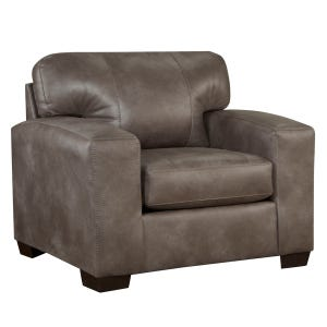 Telluride Latte Faux Leather Chair
