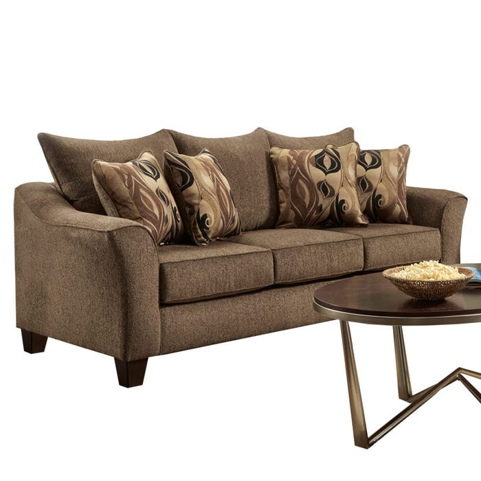 Camero Brown Chenille Sofa | Weekends Only Furniture
