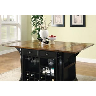 Slater Black Storage Kitchen Island