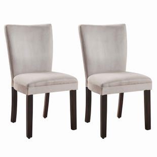 Coaster Skyfall Set of 2 Gray Fabric Chairs
