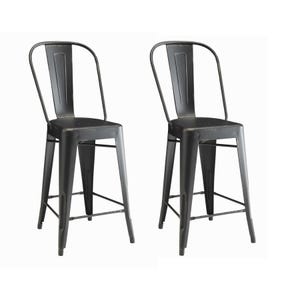 Coaster Waco Black Set of 2 Counter Height Stools