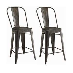 Coaster Waco Brown Set of 2 Counter Height Stools