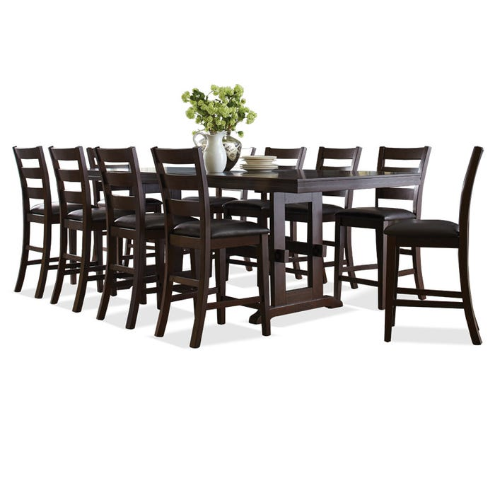 Holbrook 11 Piece Counter Height Table Set Weekends Only Furniture