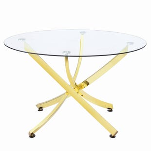 Coaster Chanel Round Dining Table Brass