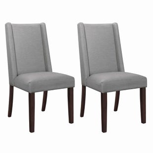 Coaster Studio1 Set of 2 Gray Fabric Chairs