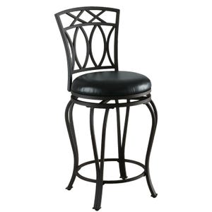Frida Black Metal Counter Height Swivel Stool