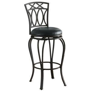 Frida Black Metal Bar Height Swivel Stool