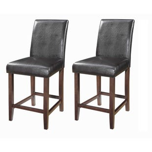 Coaster Devon Brown Set of 2 Counter Height Stools