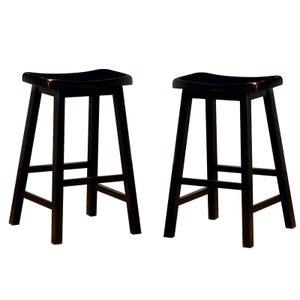 Jaguar Set of 2 Black Saddle Bar Stools