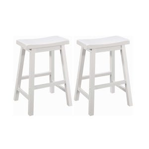 Coaster Slater White Set of 2 Counter Saddle Stools
