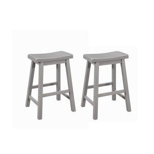 Coaster Slater Set of 2 Gray Counter Saddle Stools