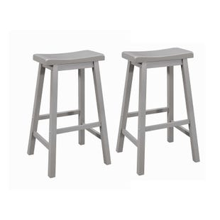 Coaster Slater Set of 2 Gray Saddle Bar Stools
