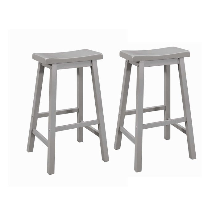 Amazing Coaster Slater Set Of 2 Gray Saddle Bar Stools Gmtry Best Dining Table And Chair Ideas Images Gmtryco