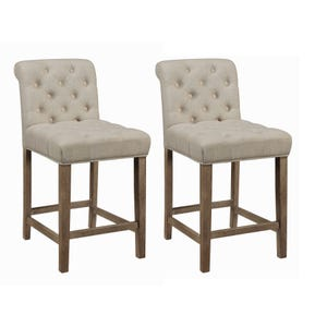 Coaster Lakewood Beige Set of 2 Counter Height Stools