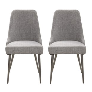 Coaster Garner Set of 2 Gray Fabric Chairs