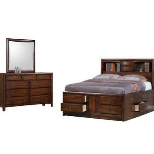 Harrison King Bookcase Bedroom Set