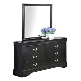 Louis Phillipe 2 Piece Dresser and Mirror