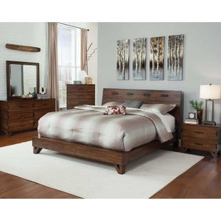 Coaster Yorkshire Dark Amber/Coffee Bean Queen Bedroom Set
