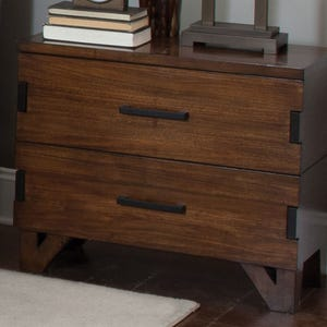 Coaster Yorkshire Dark Amber/Coffee Bean Nightstand