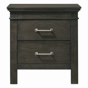 Newberry Greyish-Brown 2 Drawer Nightstand