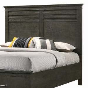 Newberry Greyish-Brown Queen Panel Headboard