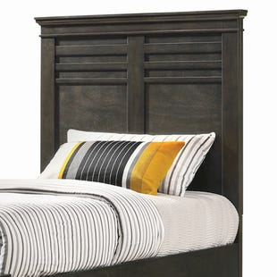 Newberry Greyish-Brown Twin Panel Headboard