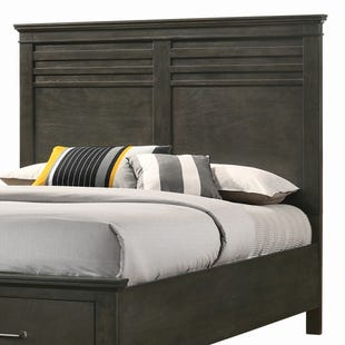 Newberry Greyish-Brown Full Panel Headboard