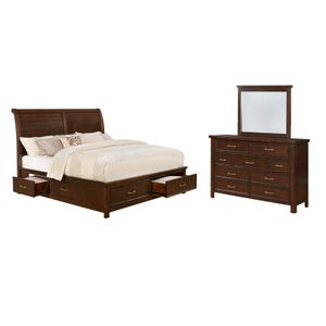 Hudson Bay Queen Sleigh Storage Bedroom Set