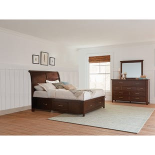 Hudson Bay King Sleigh Storage 3 Piece Bedroom Set