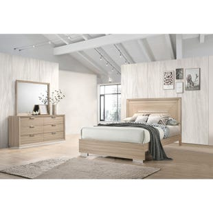 Thole Beige King 3 Piece Bedroom Set