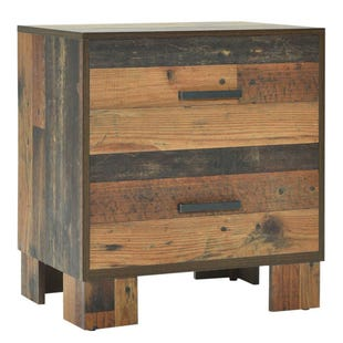 Rustic Charm 2 Drawer Nightstand