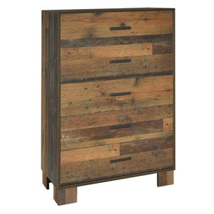 Rustic Charm 5 Drawer Chest