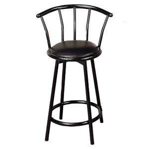 Kara Black Counter Height Swivel Stool