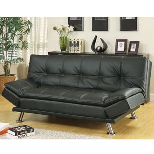 Coaster Dilleston Black Contemporary Sofa Bed Futon