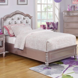 Metallic Lilac Twin Bed