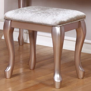 Metallic Lilac Vanity Stool