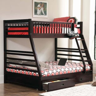 Ashton Cappuccino Twin/Full Bunk Bed