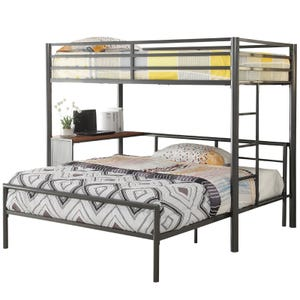Modern Loft Twin/Full Workstation Loft Bed