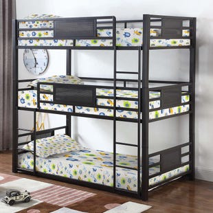 Coaster Rogan Dark Bronze Triple Bunk Bed