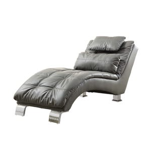 Coaster Dilleston Gray/Leather Like Chaise