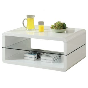 Coaster Phoebe Glossy White Cocktail Table