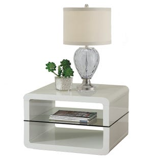 Coaster Phoebe Glossy White End Table
