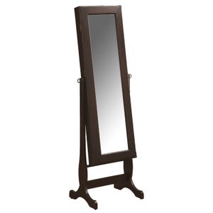 Lorelai Cheval Wood Mirror with Jewelry Storage