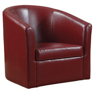 Bethany Red Swivel Chair