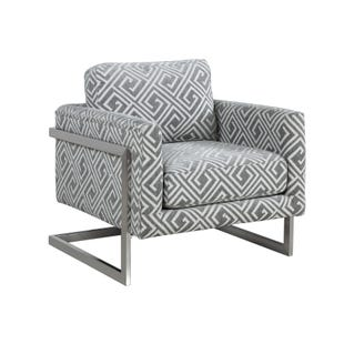 Osmond Gray Geometric Accent Chair