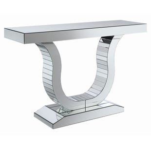 Brynlee Silver Mirrored Console Table